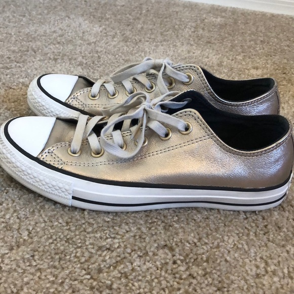 8e90181db301 Converse Shoes - Converse Chuck Taylor All Star Gold Metallic Low
